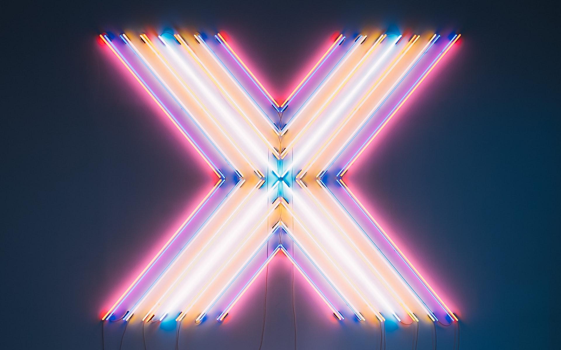 Bild eines Neon-X